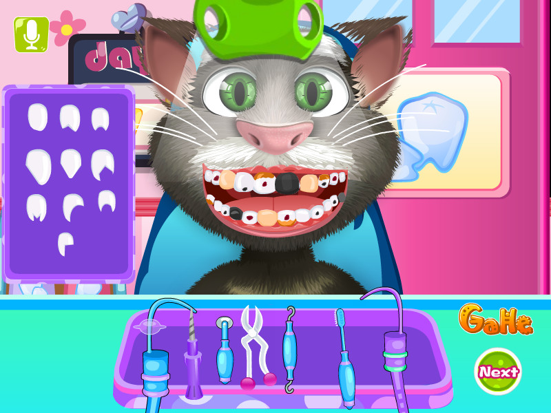 Download talking tom tooth decoration game gahe com House decoration games on gahe