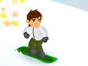 Online game Ben 10 Snowboard