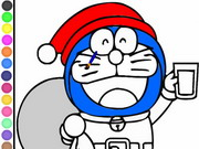 Online game Doraemon Coloring Papa Noel