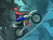 Online game Spiderman Ice Bike