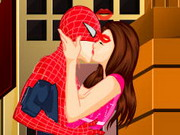 Spiderman Kissing