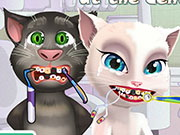 Online game ANGELA AND TOM AT THE DENTIST