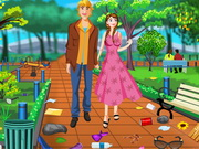 Online game Anna Valentines Day Park Cleaning