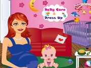 Online game Baby Care and Dress Up
