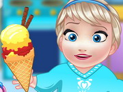 Online igrica Baby Elsa Cooking Homemade Icecream