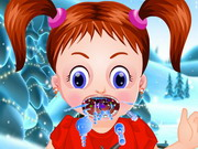 Online igrica Baby Emma Winter Throat Problem