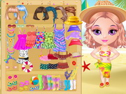 Online game Baby Halen Beach Dress Up