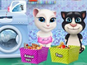 Online igrica Baby Tom And Angela Washing Toys