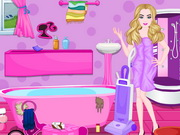 Online game Barbie Messy Bathroom Cleaning