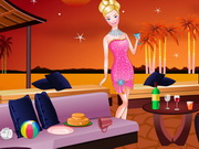 Online game Barbies New Year Bash Cleaning