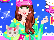 Online igrica Barbie With Kitty Dressup free for kids
