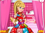 Online igrica Barbies Christmas Patchwork Dress