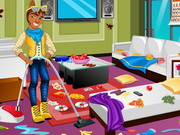 Online game Clawd Wolf Messy Room Cleaning