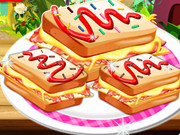 Cooking Breakfast Sandwich