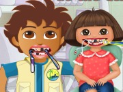 Igrica za decu Dora and Diego At The Dentist