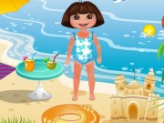 Online game Dora Beach Day