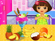 Online game Dora Blueberry Ice Cream