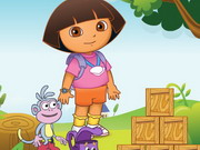 Online game Dora Building Block