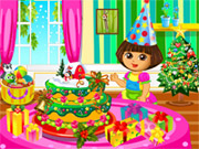 Online game Dora Christmas Cake