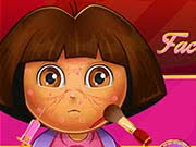 Igrica za decu Dora Face Infection