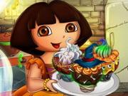 Igrica za decu Dora Halloween Cupcakes
