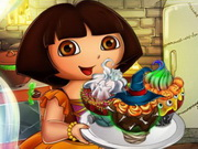 Online igrica Dora Halloween Cupcakes