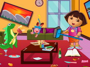 Dora Living Room Cleaning