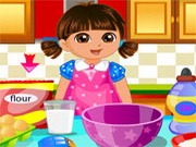 Online igrica Dora make Cake Love free for kids