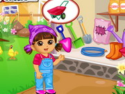 Online game Dora Vegetable Planting