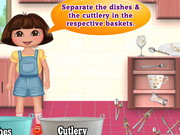 Online igrica Dora Washing Dishes