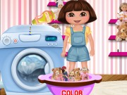 Online game Dora Washing Dolls