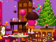 Online igrica Dora Xmas Room Cleaning