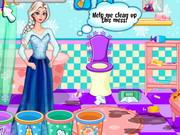 Online game Elsa Bathroom Cleaning