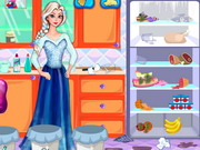 Online game Elsa Fridge Cleaning