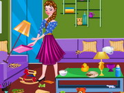 Online igrica Elsa Living Room Cleaning