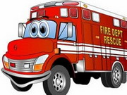 Online game Fire Truck Memory