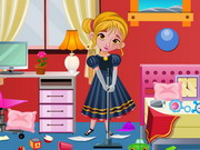 Online game Frozen Anna Bedroom Cleaning
