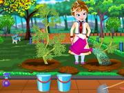 Online game Frozen Anna Fruit Garden