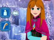 Online game Frozen Anna Waterfall Braids