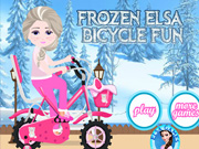 Frozen Elsa Bicycle Fun