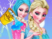 Online igrica Frozen Elsa Ice Bucket Makeover