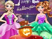 Online igrica Frozen Halloween Party