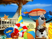 Online game Frozen Olaf beach Resort