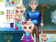 Online game Frozen School Day