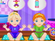 Online game Frozen Sisters Babysitter
