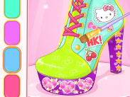 Online game Hello Kitty Shoes Designer