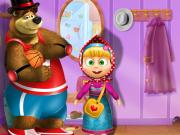 Mása és a medve új ruhában