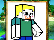 Online game Minecraft Coloring