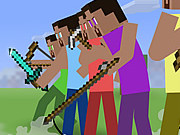 Online game Minecraft Stickman Showdown