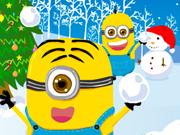 Minions Noel Kartopu Savasları Oyun
